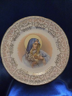 Plate Collectible Virgin Mary Immaculate Heart Crooksville Thematic