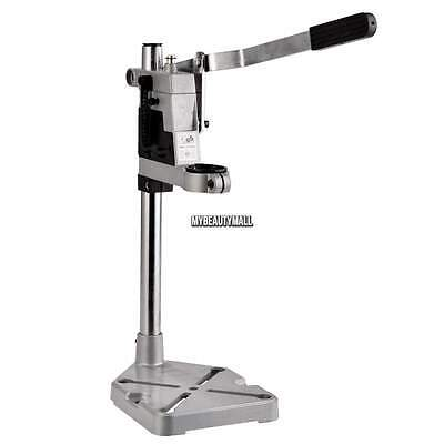 Aluminum - Clamp Drill Press Stand +Work Station for Drill Rotary w/43mm Collet