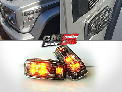 LED Side Markers Indicators Smoke Turn Signal Lights Fits Mercedes Benz G W463