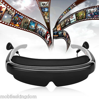 """98"""" 3D Stereo Video Glasses Virtual Widescreen Personal Theater AV IN 8GB Memory"""