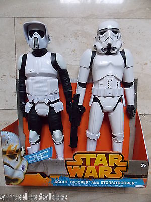 "Jakks Pacific Star Wars - Scout Trooper & Stormtrooper - 18"" Figuren - Neu/ovp"