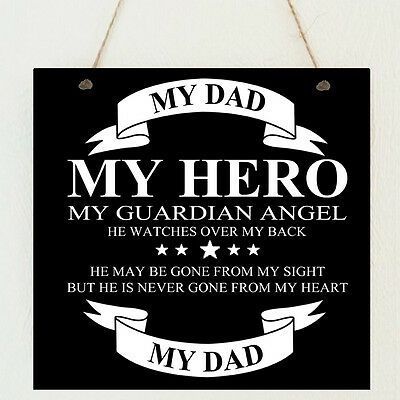 Personalised Plaque Dad Daddy Uncle Stepdad Grandad Brother Remembrance Gift