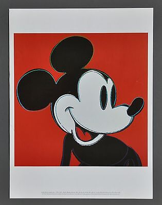 Andy Warhol Foundation Limited Ed. Offset Lithography 30x40cm Mickey Mouse 1981