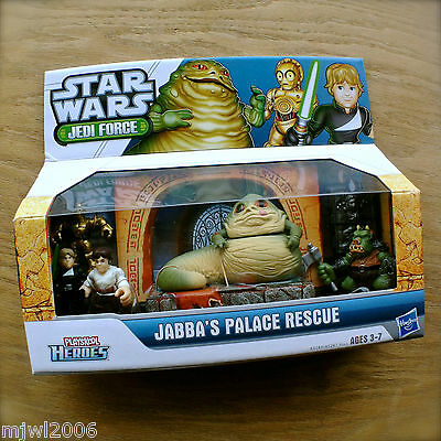 STAR WARS Jedi Force JABBA'S PALACE RESCUE PLAYSKOOL HEROES Hasbro VHTF 6pk set