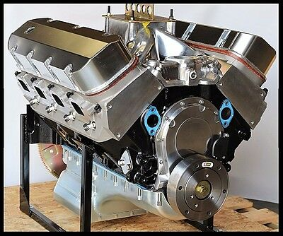 BBC CHEVY 540-555 ENGINE, STAGE 7.0 MERLIN BLOCK, CRATE MOTOR 724 hp BASE ENGINE