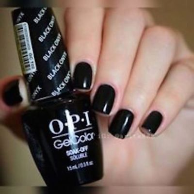 OPI GelColor Soak Off UV LED Gel Polish GCT02 Black Onyx 15ml