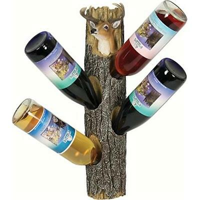 River's Edge Products REP946 Deer 4 Wine Bottle Holder Wall Mount