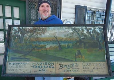 1920's Oil Painting Madison Co Ky Richmond Advertising Sign General Store Rare