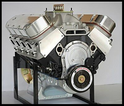 BBC CHEVY 572 ENGINE, WORLD MERLIN IV BLOCK, CRATE MOTOR 740 hp BASE ENGINE