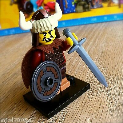 New Genuine LEGO Hun Warrior Minifig with Shield and Sword Series 12 71007