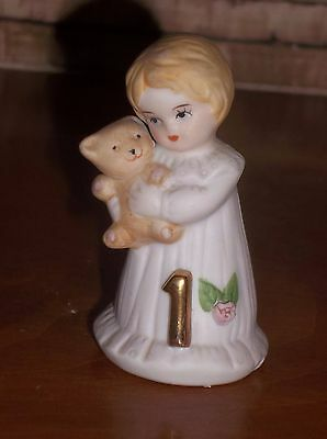 Enesco Growing Up Girls 1St Birthday Doll Figurine - Blonde Hair