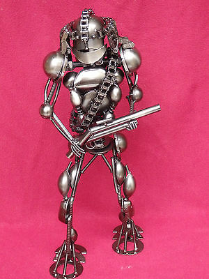 scifi metal art robot sculpture medieval avatar gaming figure warrior  f3