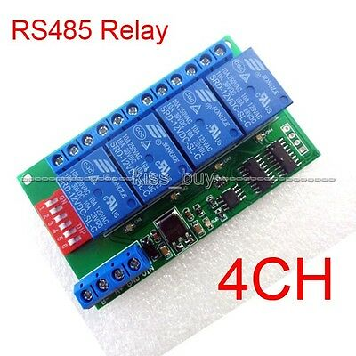 12V 4 Channel time delay RS485 Relay Module MODBUS & AT control remote switch