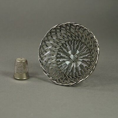 French 19th century Miniature Basket Silver Plated