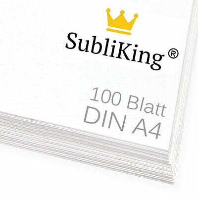 100 Blatt DIN A4 professionelles Sublimationspapier Sublimation Transferpapier
