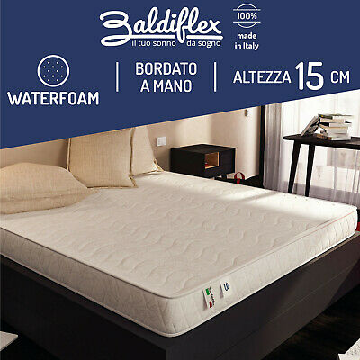 Materasso Real Best 15 Cm Poliuretano Waterfoam Ortopedico Antiacaro Anallergico