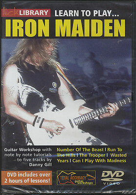Learn to Play Iron Maiden Lick Library Guitar DVD Danny Gill Number of the Beast