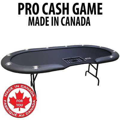 Pro Cash Game Table : Black With Steel Folding Legs