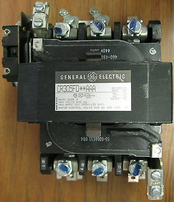GE CR305F0**AAA Size 4 Contactor with 480 VAC Coil