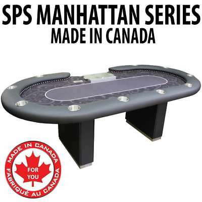 Manhattan Themed Felt Texas Holdem Card Poker Table dealer section