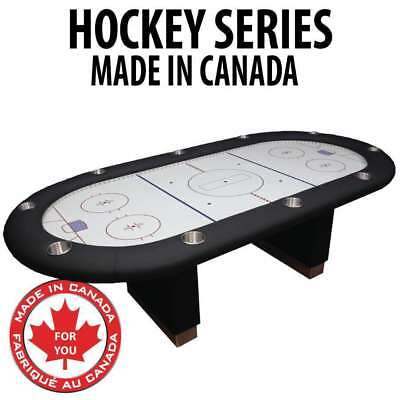 Hockey Themed Manhattan Felt Texas Holdem Card Poker Table