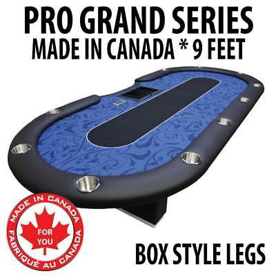 9 Foot Professional Texas Holdem Dealer Poker Table Casino Quality Felt Box Legs