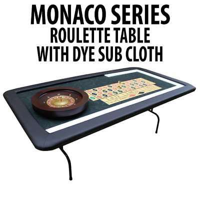Monaco Series Casino Roulette table Folding legs sublimated casino felt