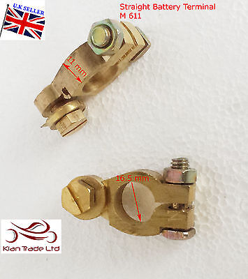 2 x 12V Battery Terminals Connectors Clamps Car Van Caravan Motorhome Heavy-M611