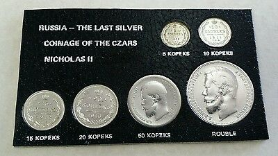 1896 - 1916 Russia, The Last Silver Coinage Of The CZARS NICHOLAS II. ''SILVER''