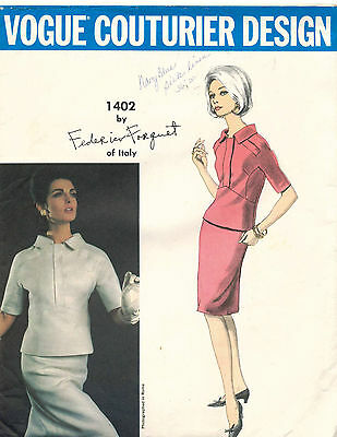 1960's VTG VOGUE Couturier Design Dress Federico Forquet Pattern 1402  14