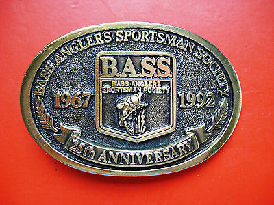 1992 Vintage Bass Anglers Sportsman Society 25th Anniversary Buckle