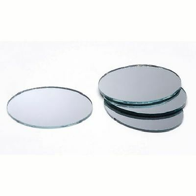 4 x 3 inch Glass Craft Small Oval Mirrors 2 Pieces Mosaic Mirror Tiles