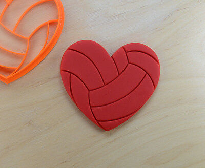 Volleyball Love Cookie Cutter - 3d printed plastic