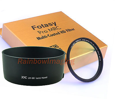 JJC LH-68 Lens Hood as ES-68 & 49mm MRC Nano UV Filter 4 CANON EF 50mm f1.8 STM