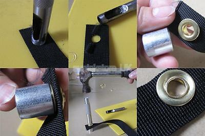 Pack 10 Gold Copper Tent Awning Grommets Tarp Eyelets Punch Repair Tool Kit