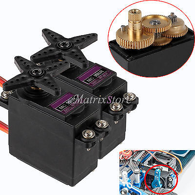 2PCS MG996R MG995 Metal Gear Torque Digital Servo For Truck Car Futaba JR 2C RC