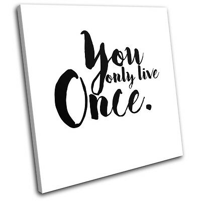 Life Motivational Quote Typography SINGLE CANVAS WALL ART Picture Print