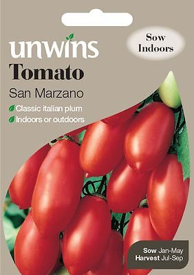 Unwins Pictorial Packet - Vegetable - Tomato San Marzano - 20 Seeds