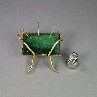Antique 19th Century Pin Cushion French Gilt Ormolu Napoleon III Circa 1860