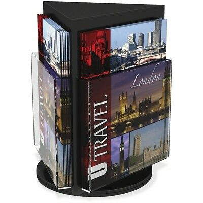 Deflect-o Rotating Countertop Display 3-Sided Magazine Size 592804