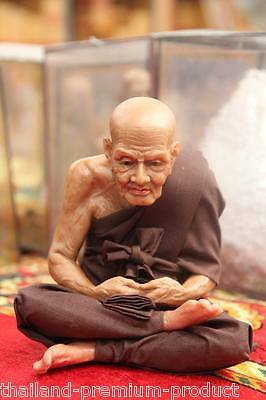 18 CM LP.Thuad/Tuad Wat Chang-Hai Wax Sculpture Magic Powerful LP Thai