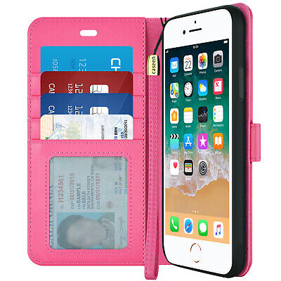 For iPhone 6 Plus / iPhone 6S Plus Wallet Case Synthetic Leather Flip Cover PINK