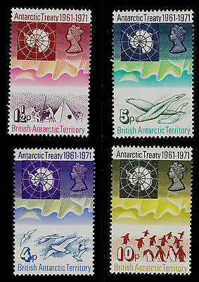 British Antarctic Territory. Scott# 39-42 Mnh Antarctic Treaty