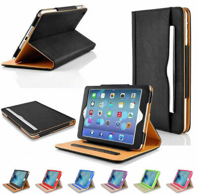 New Soft Leather Wallet iPad Smart Cover Sleep / Wake Case Stand for Apple iPad