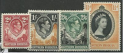 Northern Rhodesia #32, 40, 41, 60 Mint & Used