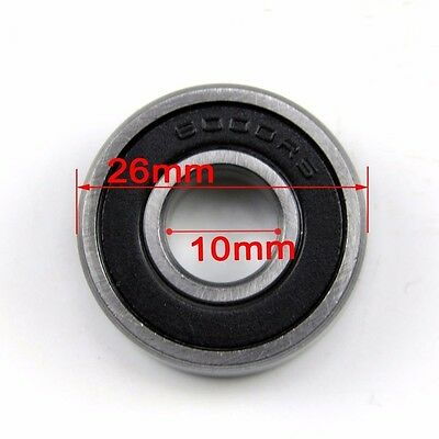 10mm x 26mm x 8mm Carbon Steel 6000RS Shielded Deep Groove Ball Bearing Black