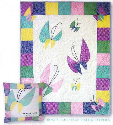 Baby's Butterflies - applique & pieced quilt PATTERN - In the Doghouse