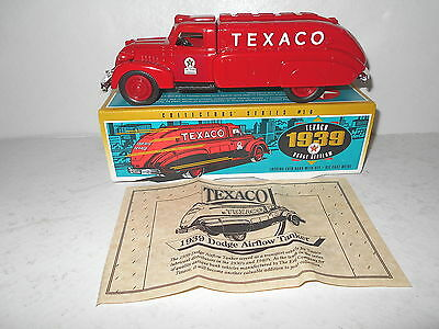 Ertl Texaco 1939 Dodge Airflow Locking Coin Bank with Key - Die-Cast Metal - NEW