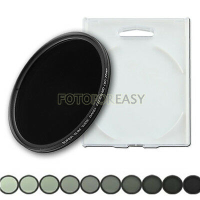 77mm Slim Fader Variable ND Filter ND2 ND4 ND8 ND16 to ND400 Neutral Density 77