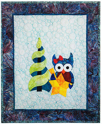 Happy Owlidays (Finishing Touch) - cute pieced & applique quilt PATTERN